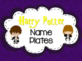 Harry Potter Themed Name Plates