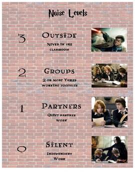Harry Potter Themed Noise Level Poster