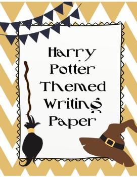 Harry Potter Themed Paper -- EDITABLE