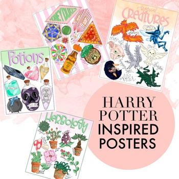 Harry Potter Themed Posters by Taracotta Sunrise