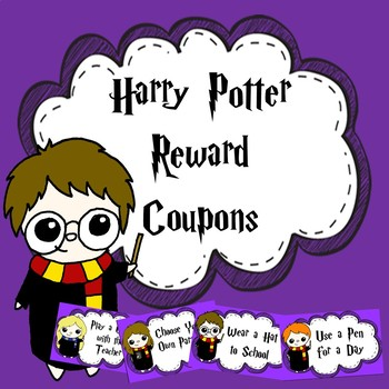 Harry Potter Themed Reward Coupons