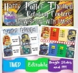 Harry Potter Themed Rotating Centers PowerPoint with Timers!