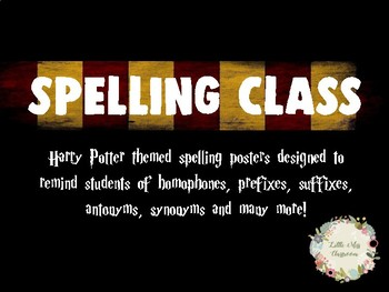 Harry Potter Themed Spelling Posters