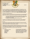 Harry Potter Themed Syllabus- Editable