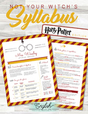 Harry Potter Themed Syllabus Template #10 (GOOGLE DRAWINGS!)