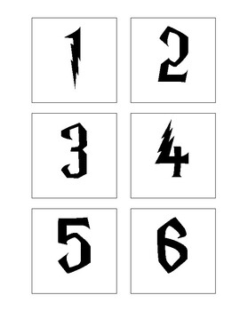 Harry Potter Themed Table/Student Numbers