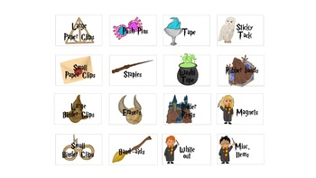 Harry Potter Teacher Toolbox Labels