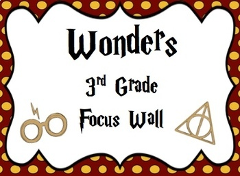Harry Potter Themed Wonders Focus Wall - 3rd Grade