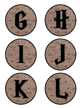 Harry Potter Themed Word Wall Letters