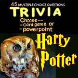 Harry Potter Trivia - Powerpoint/Card Game 45 Qs Distance