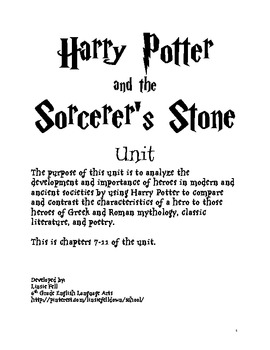 Harry Potter Unit Chapters 7-11