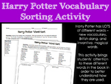 Harry Potter Vocabulary Sorting Activity