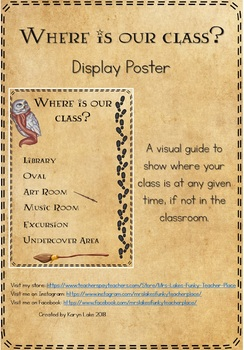 "Harry Potter ""Where is Our Class"" Display Poster"