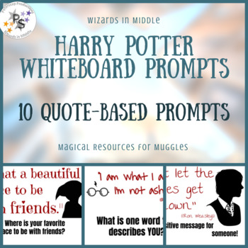 Harry Potter Whiteboard Prompts - Quotes