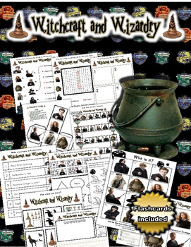 Harry Potter Witchcraft and Wizardry Themed worksheet set / Activity Packet