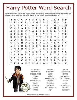image relating to Harry Potter Word Search Printable identify Harry Potter Phrase Glimpse Puzzle by way of Words and phrases Are Pleasurable TpT