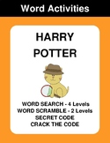 Harry Potter - Word Search Puzzles, Scramble,  Secret Code