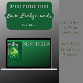 Harry Potter Slytherin Backgrounds Harry Potter Zoom Background Slytherin By Hughestorian Tpt harry potter zoom background slytherin