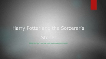 Harry Potter and The Sorcerer's Stone Review Game