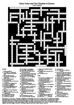 Harry Potter and the Chamber of Secrets - Fun Crossword Puzzle