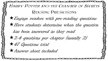 Harry Potter and the Chamber of Secrets Prediction Questions
