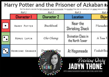 Harry Potter and the Prisoner of Azkaban Roll-A Writing Prompt