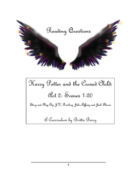 Harry Potter and the Cursed Child Act 2 Reading Questions and Vocabulary