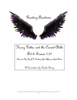 Harry Potter and the Cursed Child Act 3 Reading Questions and Vocabulary