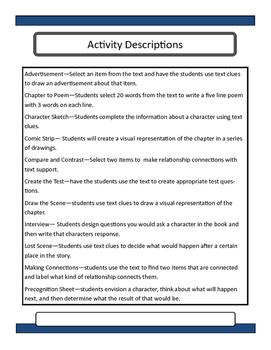 Harry Potter and the Cursed Child Novel Unit and Lesson Plans