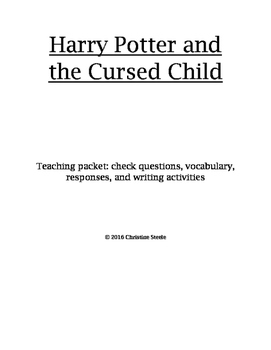 Harry Potter and the Cursed Child teaching packet