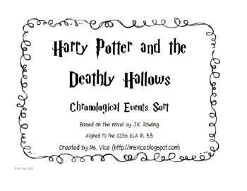 Harry Potter and the Deathly Hallows Chronological Order Sort