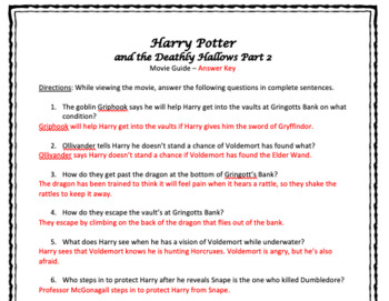 Harry Potter and the Deathly Hallows Part 2 Movie Guide