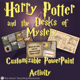 Harry Potter and the Desks of Mystery Customizable PowerPoint Template