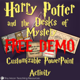 Harry Potter and the Desks of Mystery Customizable PowerPoint Template DEMO
