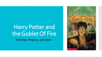 Harry Potter and the Goblet of Fire Activity Ideas