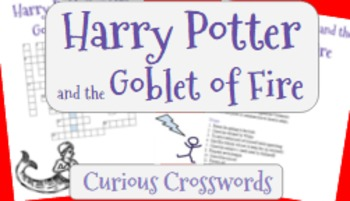 Harry Potter and the Goblet of Fire (Book 4)- Worksheet