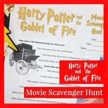 Harry Potter and the Goblet of Fire Movie Scavenger Hunt