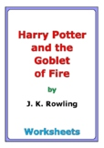 """""""Harry Potter and the Goblet of Fire"""" worksheets"""