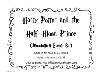 Harry Potter and the Half-Blood Prince Chronological Order Sort