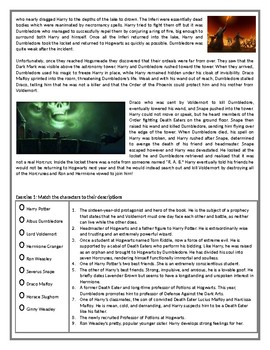 Harry Potter and the Half-Blood Prince - Reading Comprehension Text