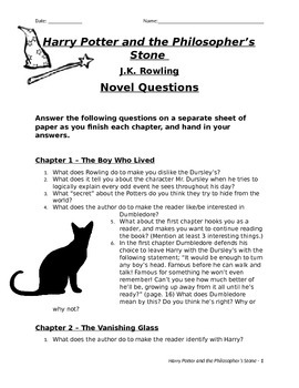 Harry Potter and the Philosopher's / Sorcerer's Stone Novel Questions