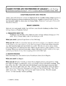 Harry Potter and the Prisoner of Azkaban Literature Guide