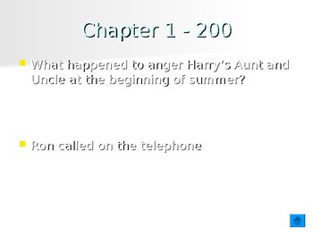 Harry Potter and the Prisoner of Azkaban Chapters 1-4 Jeopardy Review