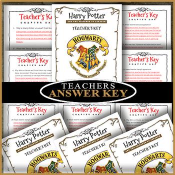 Harry Potter and the Prisoner of Azkaban ⭐ EDITABLE ⭐ CHAPTER FIVE ⭐ Novel Study