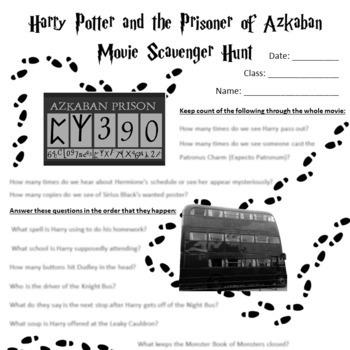 Harry Potter and the Prisoner of Azkaban Movie Scavenger Hunt