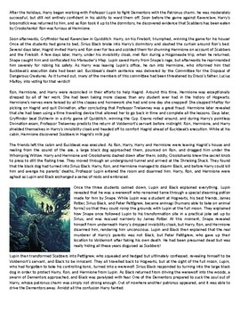 Harry Potter and the Prisoner of Azkaban - Reading Comprehension Text