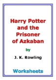 """Harry Potter and the Prisoner of Azkaban"" worksheets"