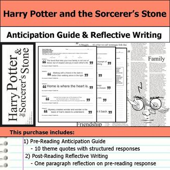 Harry Potter and  the Sorcerer's Stone - Anticipation Guide & Reflection