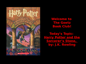 Harry Potter and the Sorcerer's Stone (J.K. Rowling) Book Club Discussion/Trivia