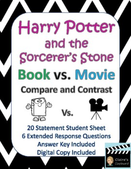 compare contrast essay harry potter book vs movie